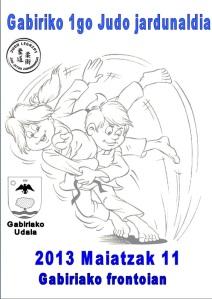 Gabiriako I. Judo Topaketaren kartela.