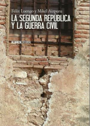Mikel Aizpururen 'La segunda Republica y la Guerra Civil' eskuliburuaren azala.